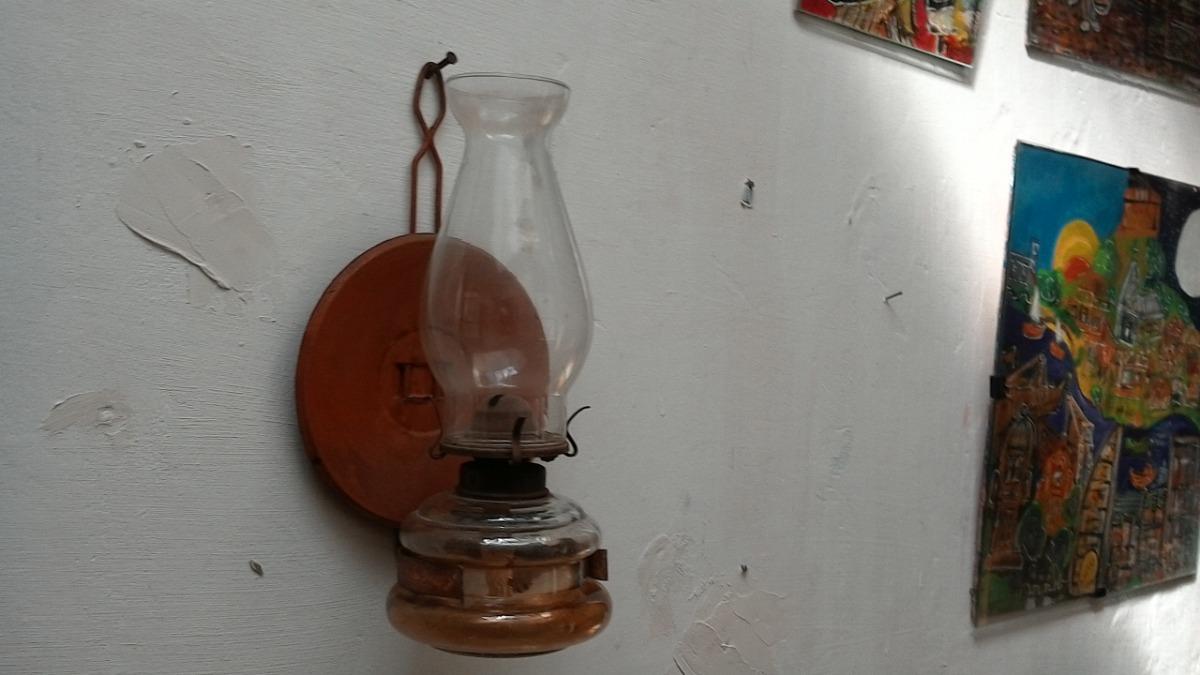 Lampara De Pared Antigua A Kerosene nmN80w