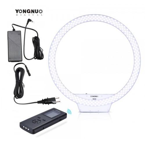 lampara anillo led yn308 con adaptador de corriente y tripie