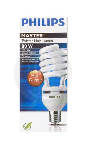 lámpara bajo consumo espiral philips 80w fria e40