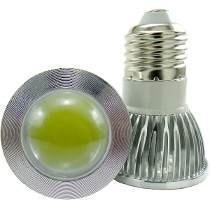 lampara cob (mejor que led) 3w dicroica e27 aluminio