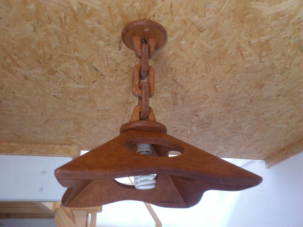 Lampara colgante de techo madera dise o exclusivo 2 - Lamparas originales de techo ...