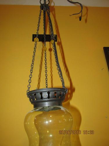 lampara colgante turca divina completa vidrio y metal regali