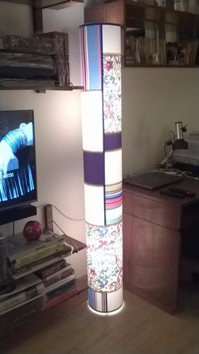 lampara de pie 2 luces,fabrica pantallas artesanales,novedad