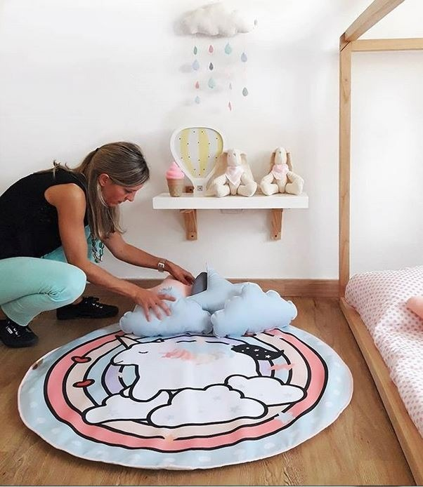 Lámpara Deco Niños Cuarto Bebe Veladora Nube Led Baby Shower
