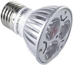 lampara dicroica led 3 w bi pin / e 27 / gu10 220 v - 5 + 1