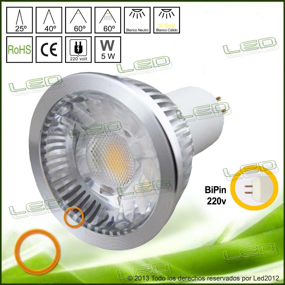 Lámpara Led Volt Dicroica 220 Alta Luminosidad 5 Watt 600lm yvbfgmIY76