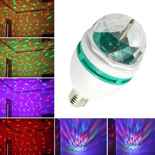 lampara giratoria rgb  grande  efecto caleidoscopio led 3w
