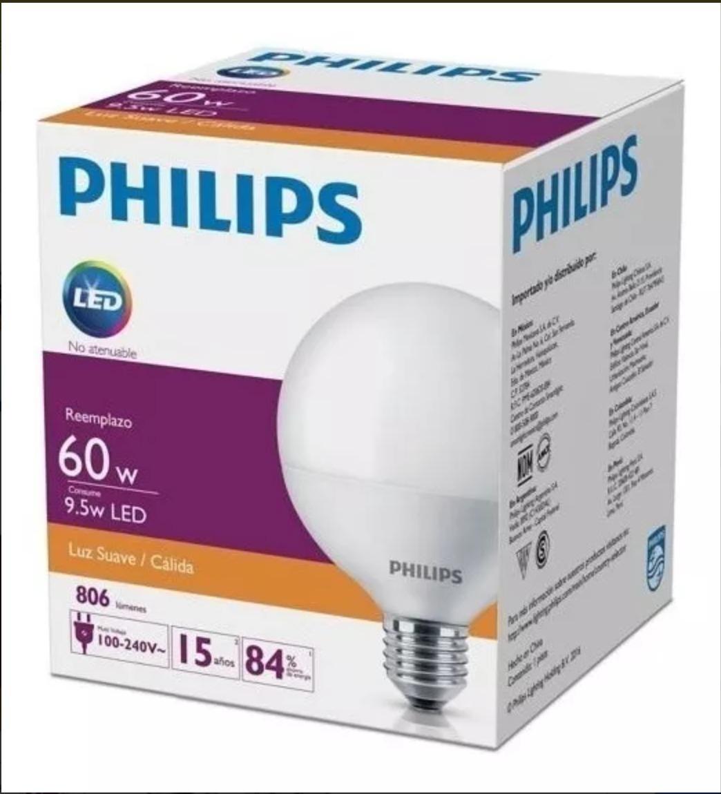 Globo Lámpara 5w Cálida Led Philips 9 jcL54R3qA