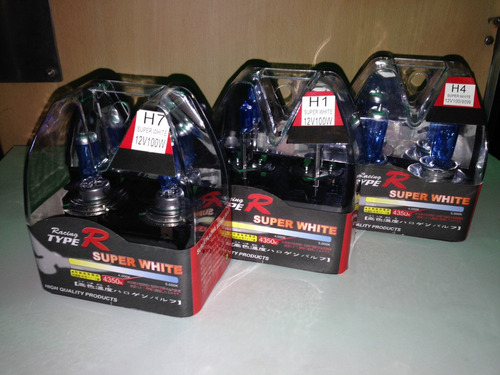 lampara halogena 12 v p/auto h1/ h4/ h7 100w power jgox2