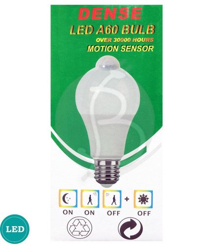 lampara led 10 w con sensor de movimiento