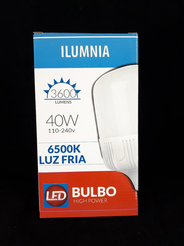 lampara led 40w 220.v e27 luz fria super potente y eficiente
