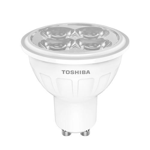 lampara led bombita dicroica toshiba 5w/50w 350lm gu10 febo