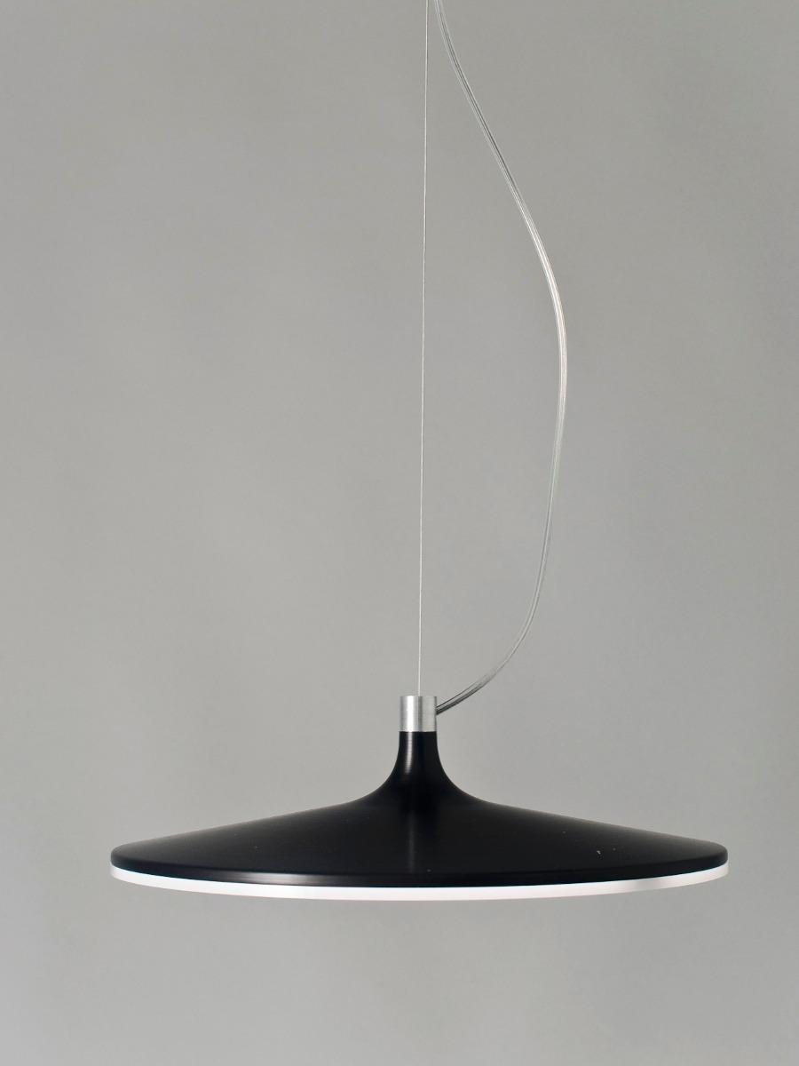 Lampara Led Colgante Aluminio Diseño Original Negra