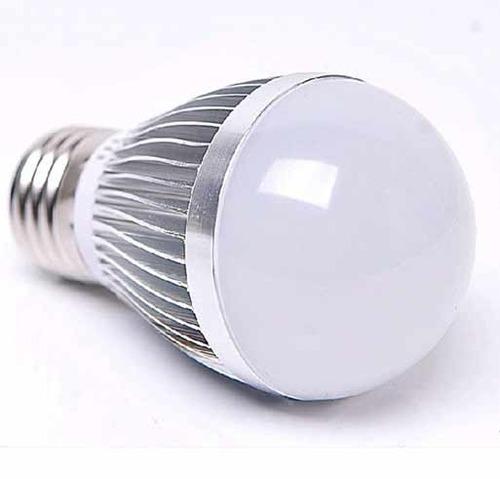 lampara led de 7w pase e27 de luz calida base de aluminio