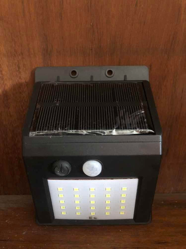 lampara led solar panel desmontable + sensor fotocelula