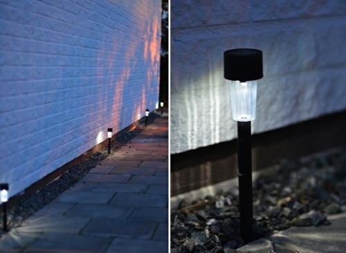 lampara luz solar - antorcha farol pincho para jardin