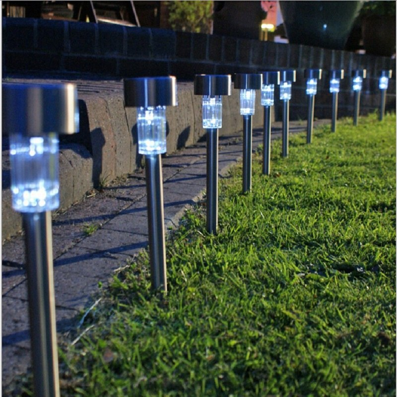 Lampara Luz Solar Para Jardin Antorcha   Metal Farol Led