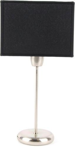 lampara mesa velador cuadrado pantalla tela negro artelamp