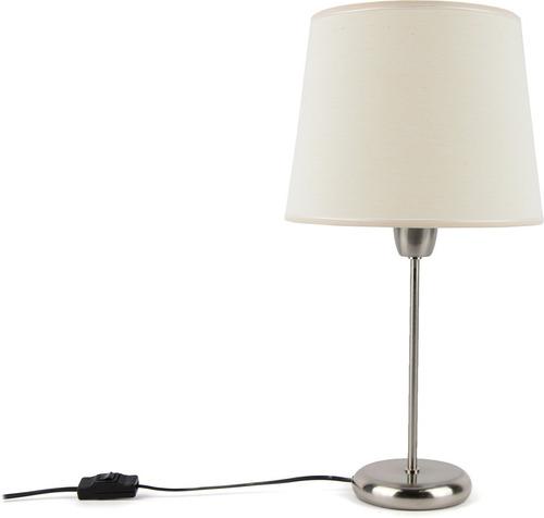 lampara mesa velador pantalla conica tela natural artelamp
