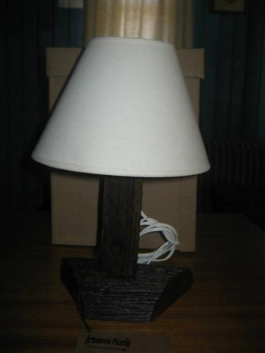 lampara portatil artesanal rustica para mesa de luz