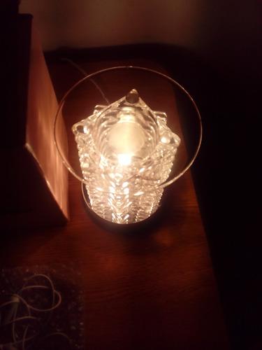 lámpara táctil de 3 intens con platito para aceite de miami!