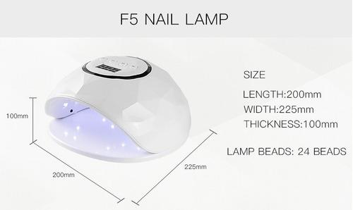 lampara uv led 72w cabina secador uñas en gel premium