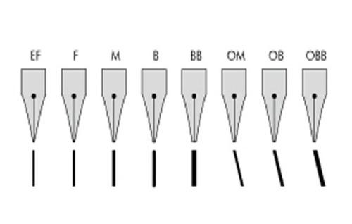 lamy - pena tinteiro aço prata espessura grossa (b) avulsa