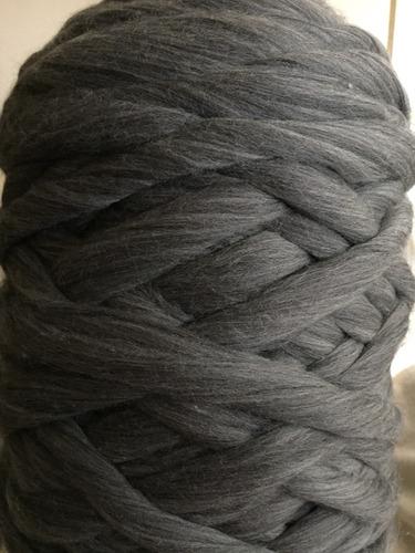 lana merino - top gris
