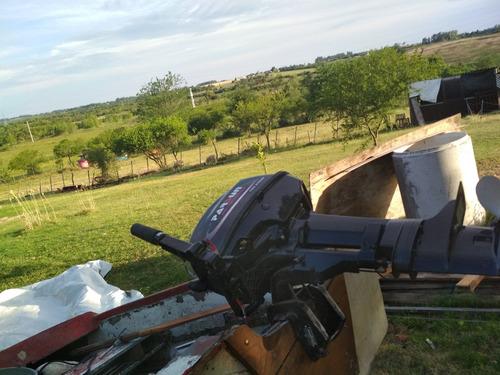 lancha con motor y trailer