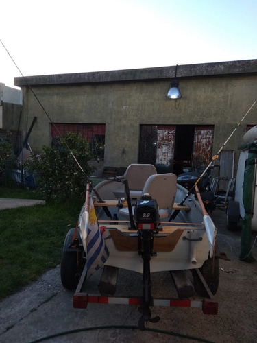 lancha con trailer y motor