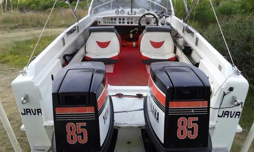 lancha dasur con 2 motores yamaha 85 hp.se va  completita!!
