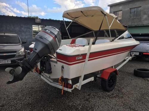 lancha krauze  modelo caribe 470 motor mariner 90 hp divina