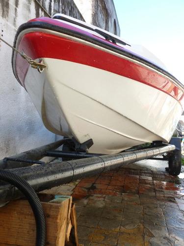 lancha pescadora 4.75 m, motor yamaha 40hp, trailer completo