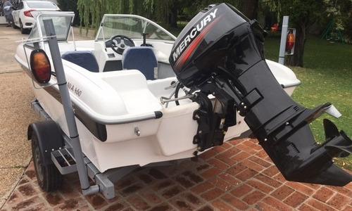 lancha siuox 460 y motor mercury 40 hp 2t trailer 0km