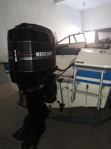 lancha + trailer! motor mercury 115hp