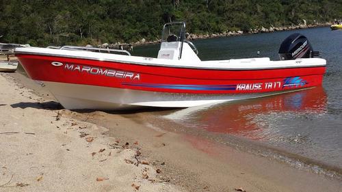 lancha travessia 6.30  con mercury 40 hp