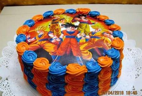 Las mejores tortas de dragon ball z para cumples 340 for Cuartos decorados de dragon ball z