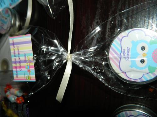 latitas personalizadas rellenas y presentadas con tarjeta$25