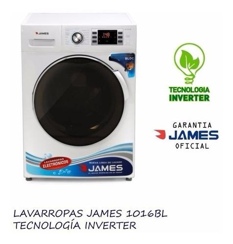 lavarropas james lr 1016 bl 10kg inverter dist oficial james
