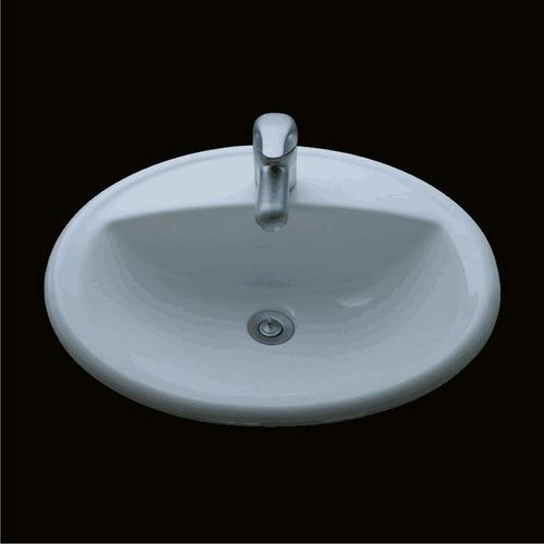 lavatorio olmos® de sobreponer oval monocomando blanco