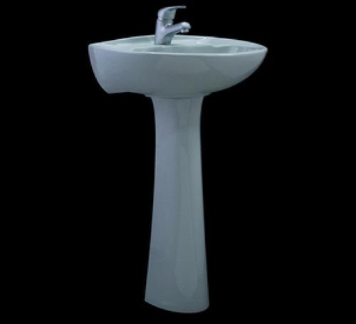 lavatorio y pedestal olmos aplino blanco con grifería