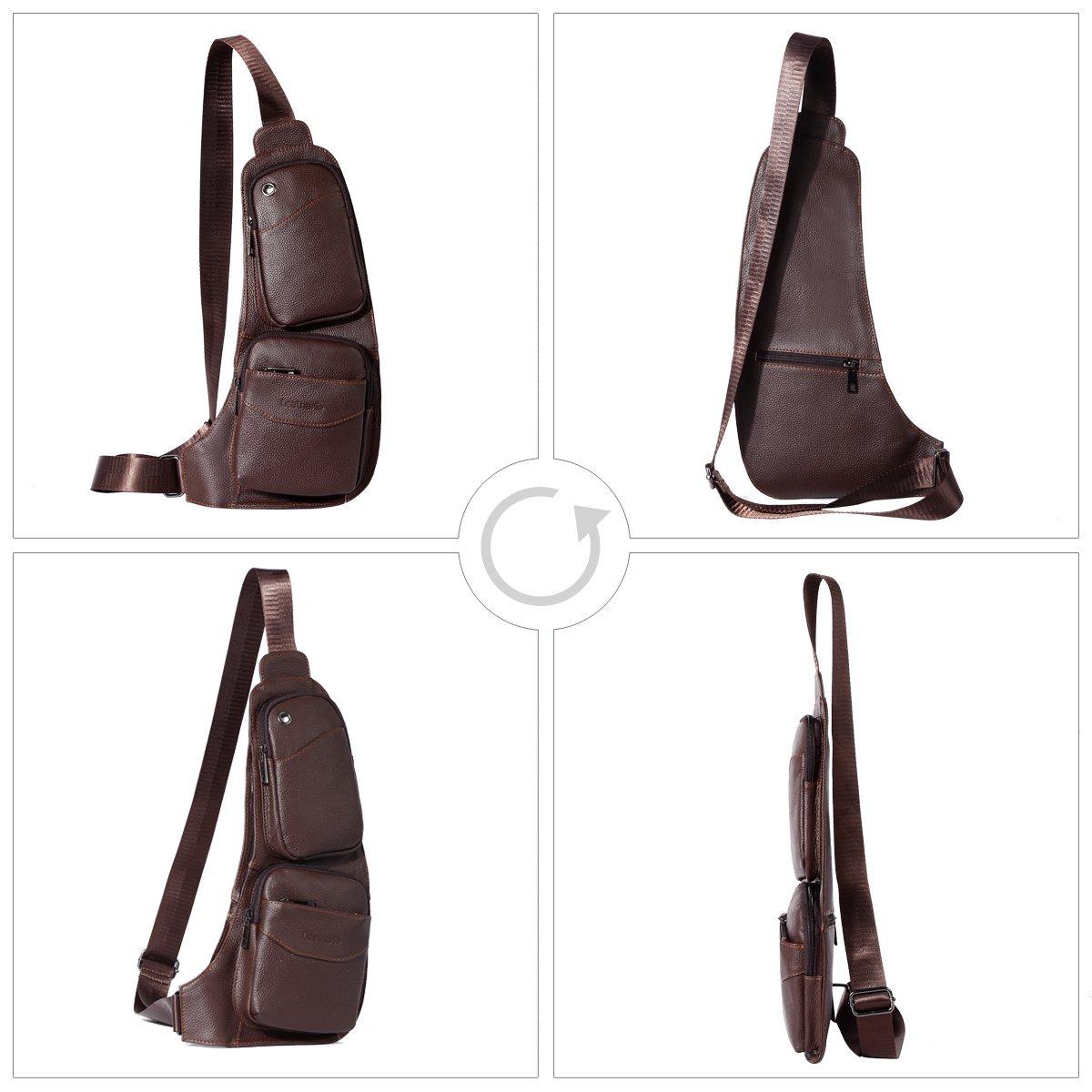 95ba4dd66 leathario - bolso bandolera retro, en piel, para hombres,. Cargando zoom.