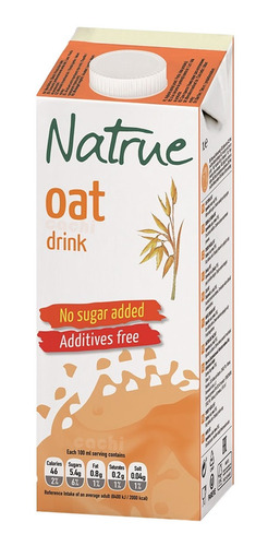 leche de avena sin azúcares natrue de 1lt