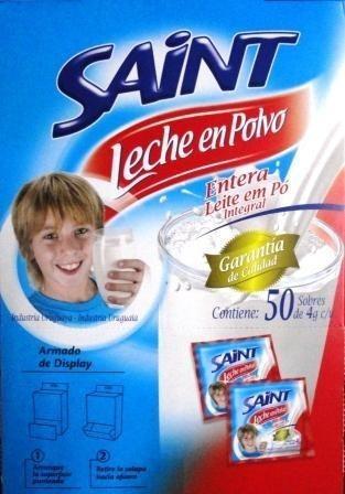 leche en polvo saint en sobre individual