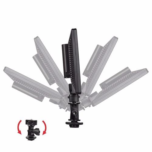 led supon led-l122t ultradelgado c/bat y carg p/ nikon canon