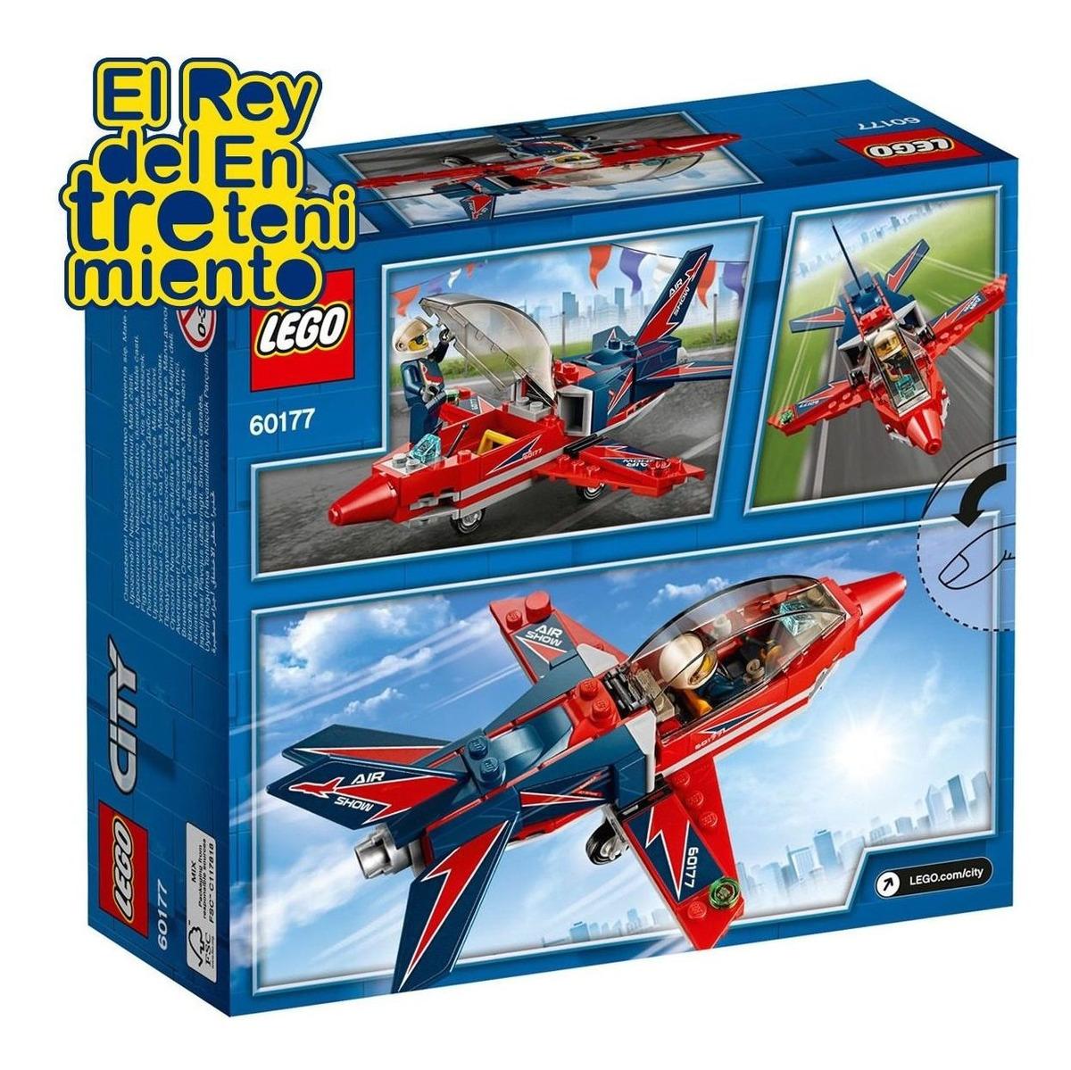 Lego City Jet De Exibición Encastre 60177 + Regalo - El ...