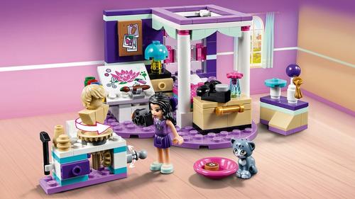lego friends: dormitorio de lujo de emma