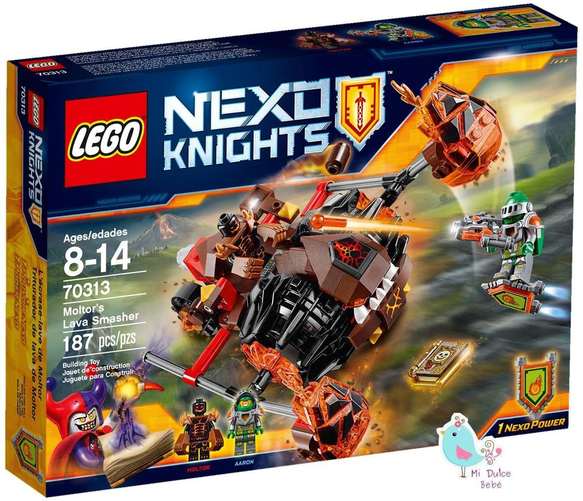 Lego Nexo Knights Legos Juguetes Triturador De Lava 70313 ...