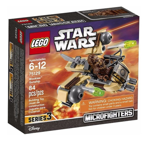 lego star wars: nave chewbacca microfighter 3 + juego gratis