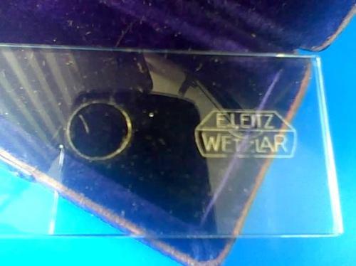 leitz wetzlar objekt mikrometer 1/100 m/m - micrómetro 1/100